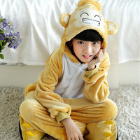 Girls Cute Monkey Pajamas Warm Autumn Winter Homewear Children S Pajamas Cartoon Animal Onesies Pajamas For