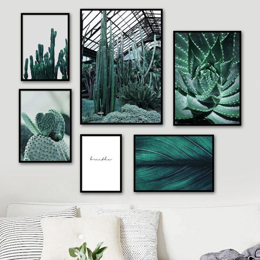 Fresh Aloe Cactus Leaves Quote Wall Art Canvas Painting Nordic Posters And Prints Plant Pictures For Living Room Home Decor