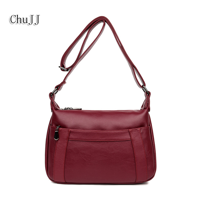 Chu Jj Women S Genuine Leather Handbags All Match Shoulder Crossbody Bags Fashion Messenger Bag Simple