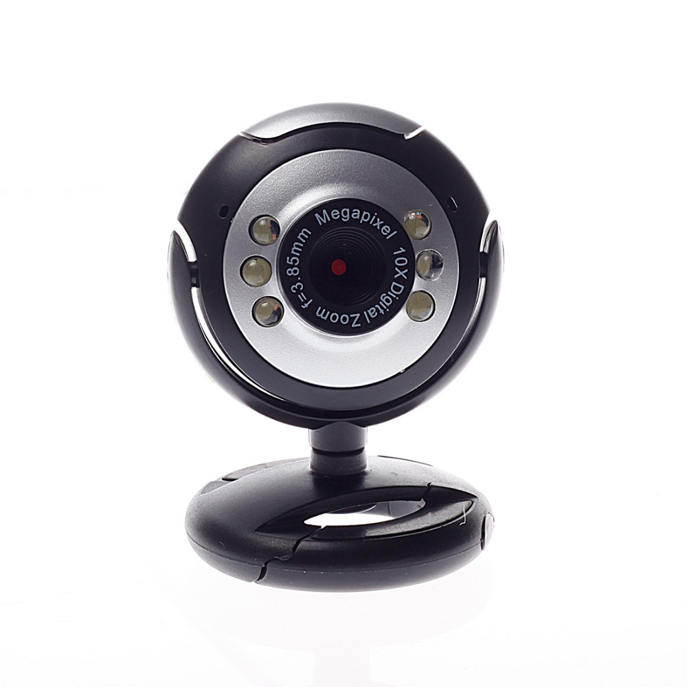 6led pc camera with mic can taking photos hd webcam camera