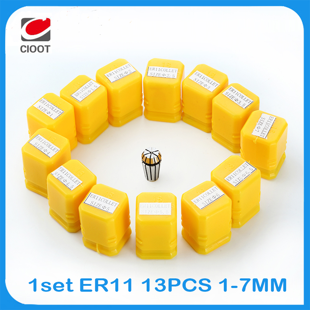 2017 Sale Quick Change Tool Post 13pcs Er11 Collet Chuck Cnc Spindle Lathe Tool Holder Pinza Set From 1-7mm For Milling Lather  цены