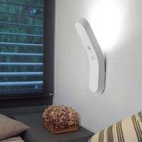 KHLITEC 1Pc 6LED PIR Body Motion Sensor Activated Wall Light Night Light Induction Lamp Closet Corridor Cabinet led Sensor Light