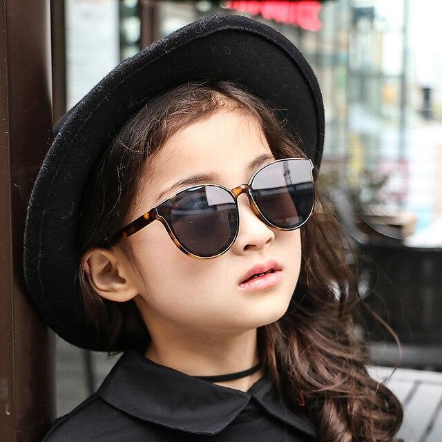 bb8871819 عالية الجودة 2018 الاطفال النظارات الشمسية العلامة التجارية الطفل الفتيات  مكبرة الأطفال نظارات شمسية UV400 نظارات
