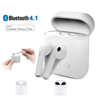 TWS I7 Binaural Bluetooth Earphones Stereo Wireless Headset Earphone For IOS For Iphone X 8 7