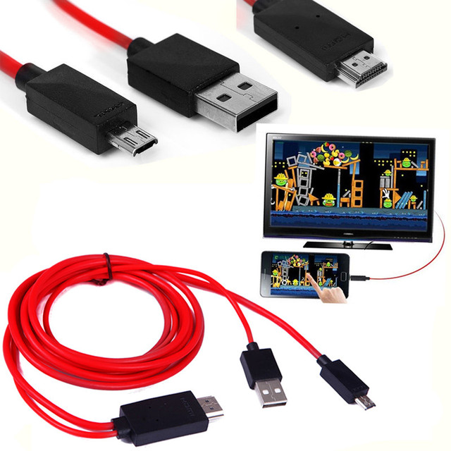 Hot 2m Mhl Micro Usb Cable Micro 11 Pin Usb Mhl To Hdmi Adapter