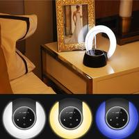 Abajur Moon Shape Bluetooth Wireless Stereo Speaker Night Light Luminous Table Lamp Outdoor Table Lamp Lumiparty Luminaria