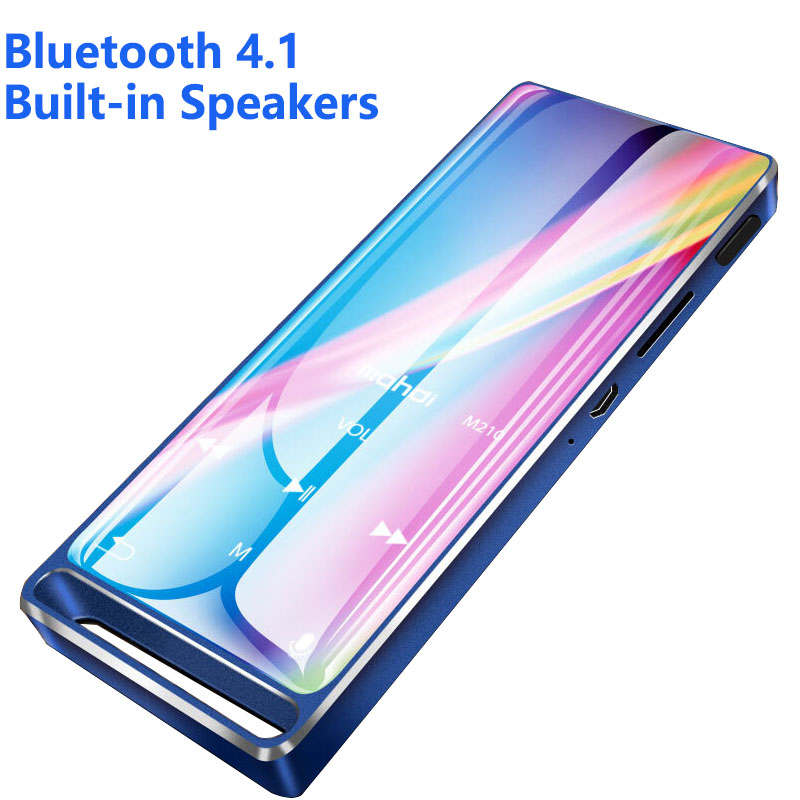 Bluetooth Mp3 Player 1.8 Inch Touch Screen Bulit-in Speaker With FM Radio/recording Portable Slim Lossless Sound Walkman