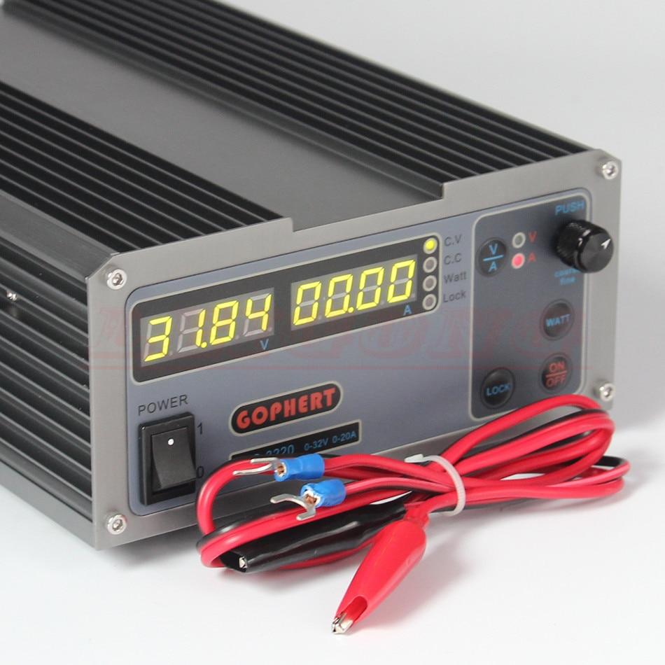 Mini cps 3220 DC Power Supply 37pcs DC head Banana clip wire EU UK US adapter