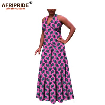 african dress for women casual style traditional african clothing sleeveless ankle length women rankara cotton dressA722516