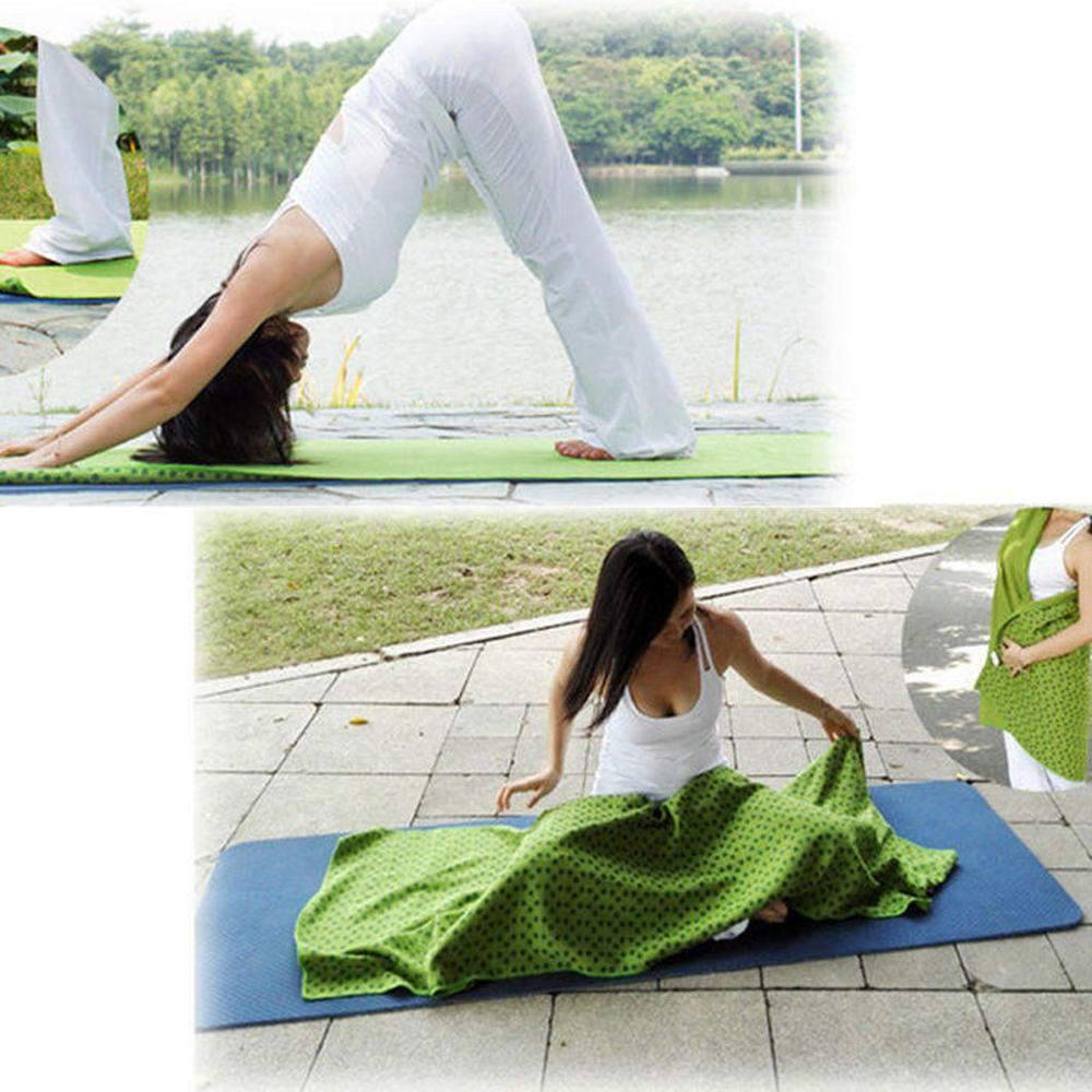 ✔  Коврик для йоги Sport Fitness Travel Упражнение Чехол Полотенце Одеяло Нескользящее Пилат одеяло ПВХ ✔