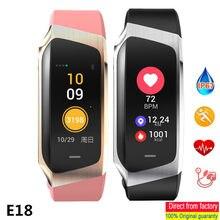 Pulseira IP67 E18 Inteligente À Prova D' Água Heart Rate Monitor de Pressão Arterial Banda Esportes Pulseira De Fitness Rastreador Pedômetro Relógio Inteligente