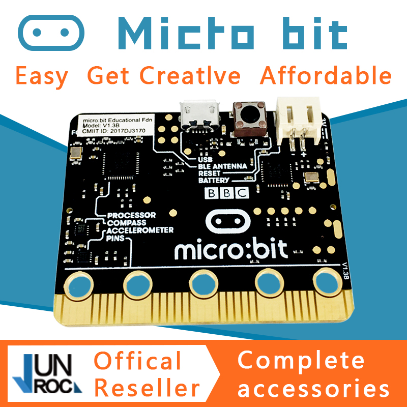 BBC micro:bit nRF51822 KL26Z Bluetooth 16kB RAM 256kB Flash Cortex-M0 Pocket-sized Computer for kids beginners learn python JS brendan scott python for kids for dummies