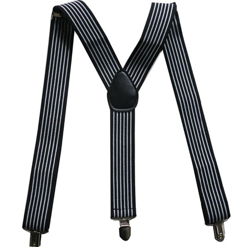 OnnPnnQ Fashion Adult Striped Suspenders Women Men Print Casual Black White Y-back Elastic Braces 2.5cm 3.5cm Suspenders For Men