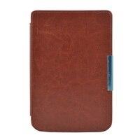 Solque PU Leather EBook Case For Pocketbook 614 Ultra Slim Magnet Flip Cover For Pocket Book