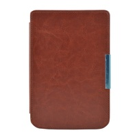 Solque PU Leather EBook Case For Pocketbook 614 Ultra Slim Magnet Flip Cover For PocketBook Touch