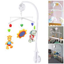 White Baby Crib Mobile Bed Bell Toy Holder Arm Bracket + Wind-up Music Box Baby Toys 0-12 Months Baby Toys Stroller Toy baby toys white rattles bracket set baby crib mobile bed bell toy holder arm bracket wind up music box free shipping