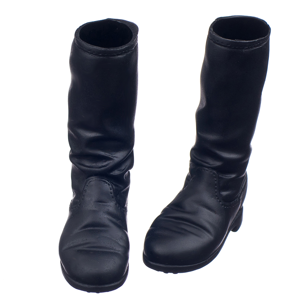 Long-Boots Shoes-Accessories Action-Figure Body-Ornaments Female Black 1/6-Scale