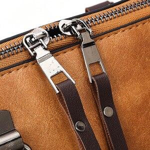Image 5 - Vintage PU Leder Damen Handtaschen Frauen Messenger Taschen TotesTassel Designer Umhängetasche Schulter Tasche Boston Hand Taschen Heißer Verkauf