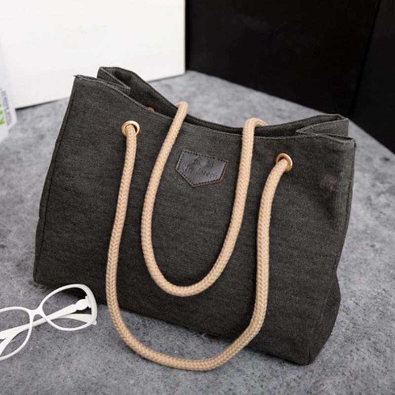 YBYT brand 2017 new casual canvas tote hotsale ladies shopping purse women shoul