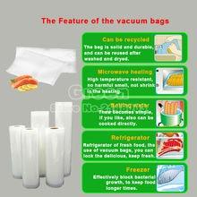 (5 Rolls/ Lot ) 25cm x 500cm Fresh-keeping bag of vacuum sealer food storage bags packaging film keep fresh up to 6x longer