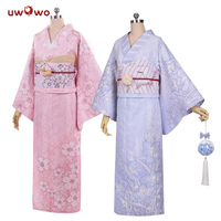 UWOWO Cardcaptor Sakura Anime Cosplay Tomoyo Kimono Bathrobe Cosplay Costume Women Cosplay Full Set