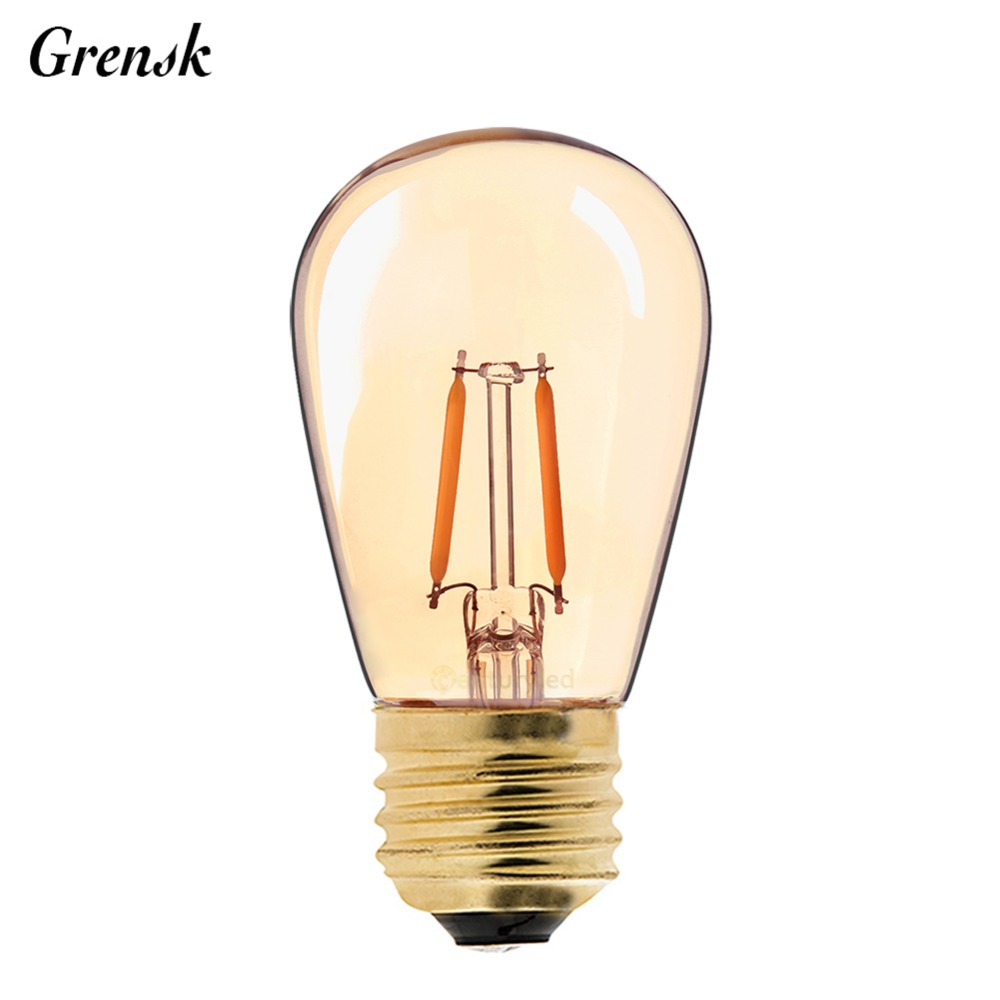 Vintage Led Us 25 1 27 Off Vintage Led Filament Bulb 1w Gold Tint Edison St45 Globe Style Super Warm Decorative Household Lamps Dimmable In Led Bulbs Tubes