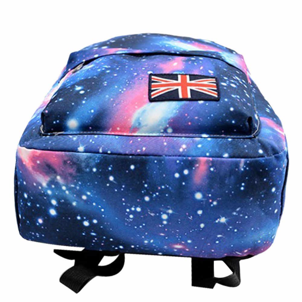 2019 חם מכירות Galaxy דפוס יוניסקס נסיעות תרמיל בד פנאי שקיות בד תיק בית ספר באיכות גבוהה המוצ 'ילה mujer בית ספר תיק