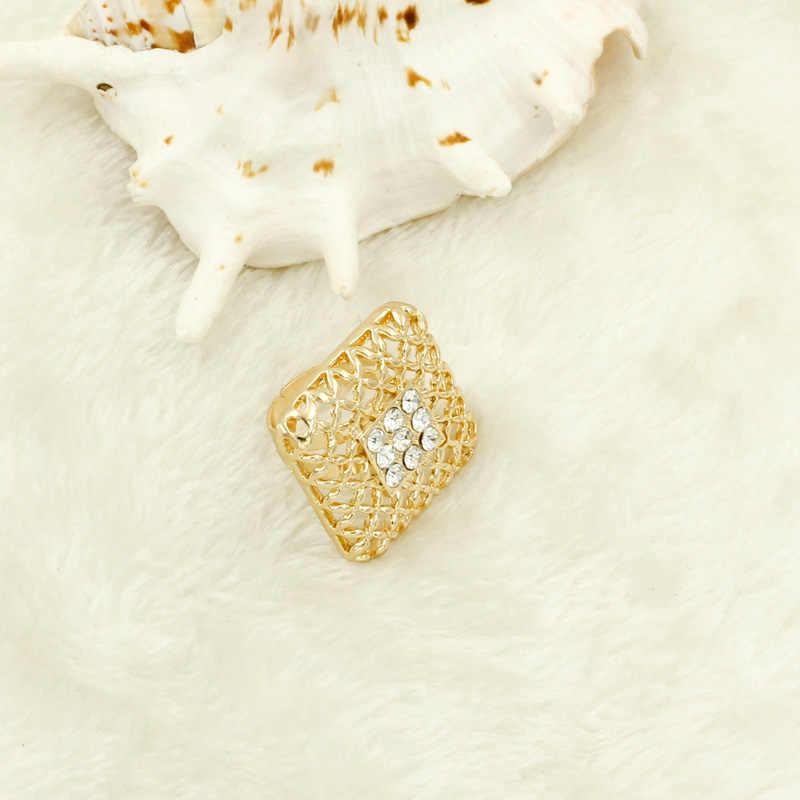 Liffly מתנת כלה אופנה תכשיטים אפריקאים סטי גדול שרשרת תליון שרשרת דובאי זהב תכשיטים לנשים