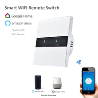 EWelink 2 Gang 1 Way Wireless Wifi Control Light Switches Wall Touch Switch App Phone Remote
