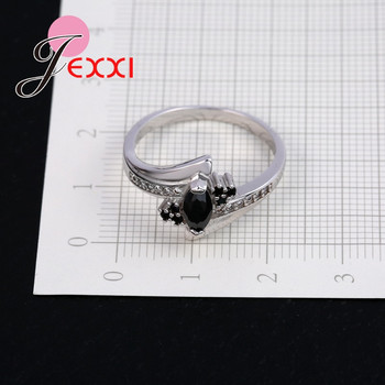 New Arrival Cute Shiny Cubic Zirconia Rings For Women Big Discount 925 Sterling Silver Party Jewelry Gift Free Shipping 1