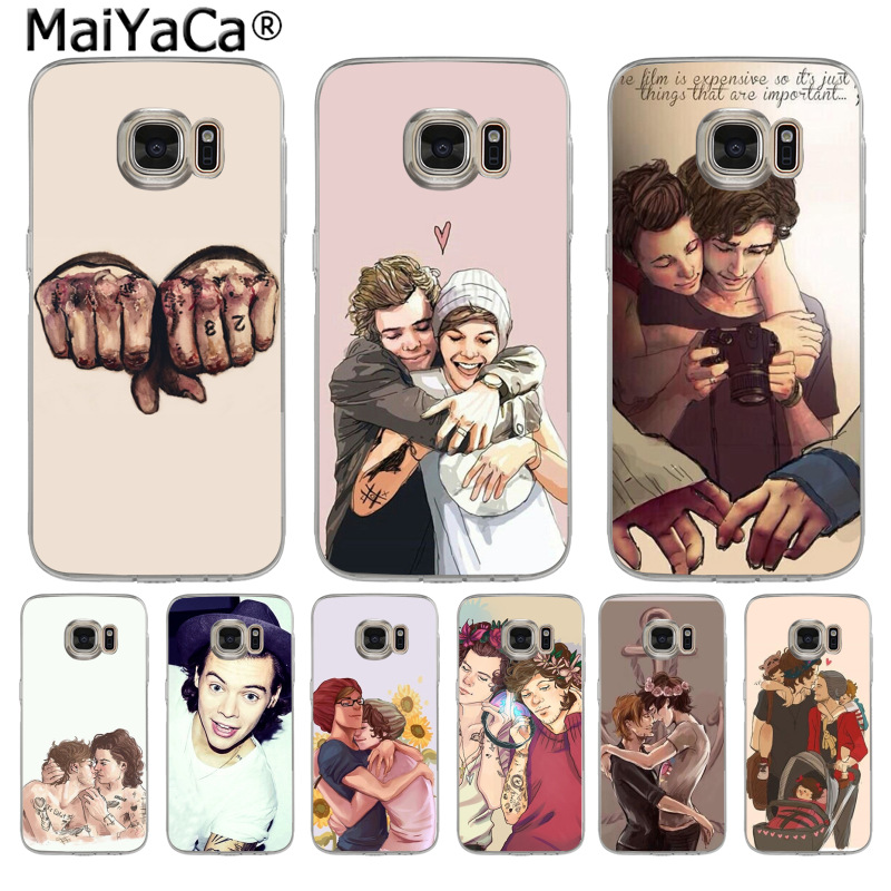 MaiYaCa <font><b>Styles</b></font> one direction <font><b>harry</b></font> <font><b>styles</b></font> and louis tomlins <font><b>Phone</b></font> <font><b>Case</b></font> for <font><b>Samsung</b></font> S3 S4 <font><b>S5</b></font> S6 S6edge S6plus S7 S7edge S8 S8plus image
