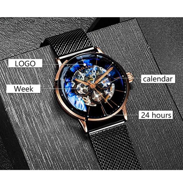 Фото ailang топ дизайн часы минималистский турбийон мужские автоматические цена