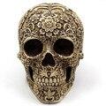 Домашний домашний стол класса «ужас»  декоративное ремесло  человеческий ужас  Череп  кости  скелеты  украшение на Хэллоуин  цветочный орнам...