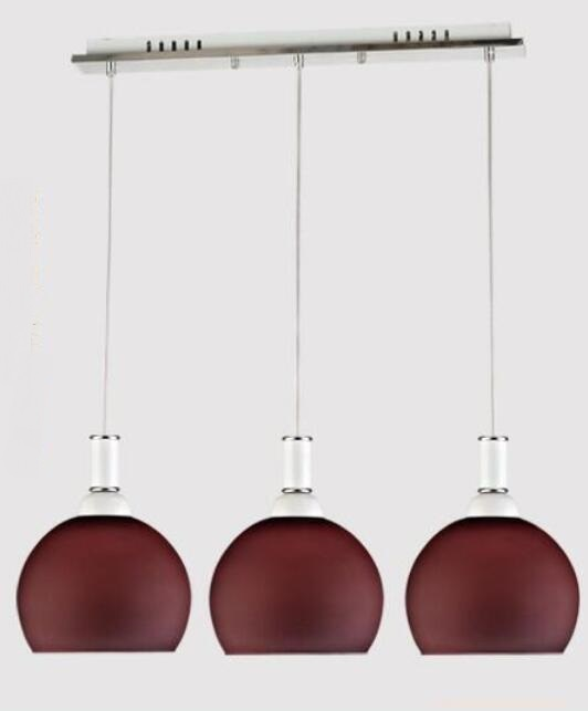 Modern simple fashion dining pendant lamp three dining room dining room bar lamp red/white 3 heads pendant lights simple modern geometric chandelier hollow iron dining room lamp one desk lamp three dining table lamp