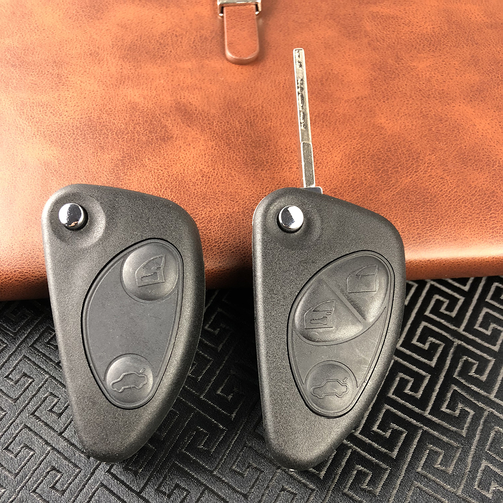 OkeyTech Flip Remote Car Key Shell for Alfa Romeo 147 156 GT 2 3 Buttons Uncut Blade Blank Replacement New Quality CaseOkeyTech Flip Remote Car Key Shell for Alfa Romeo 147 156 GT 2 3 Buttons Uncut Blade Blank Replacement New Quality Case