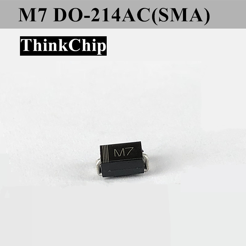 Free Shipping 100 PCS / Lot 1N4007 DIODE SMA 1A 1000V Rectifier Diode(Marking M7)