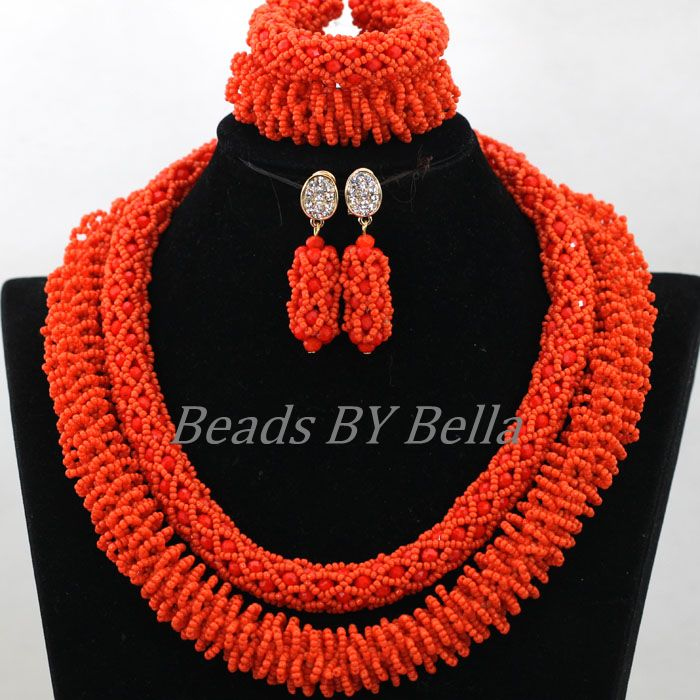 New Arrival African Women Costume Jewelry Set Nigerian Wedding Party Gift Orange Crystal Statement Necklace Free Shipping ABK754New Arrival African Women Costume Jewelry Set Nigerian Wedding Party Gift Orange Crystal Statement Necklace Free Shipping ABK754