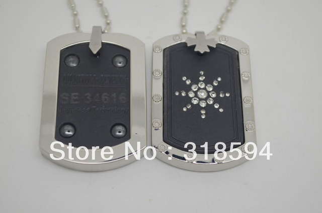 free shipping square Energy Pendant big size man pendant man jewelry stainless steel charms pendant  man pendant cables