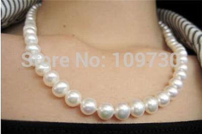f194f278574b Cheap Jewelr 004103 8 9mm blanco agua salada AKOYA collar de perlas  cultivadas