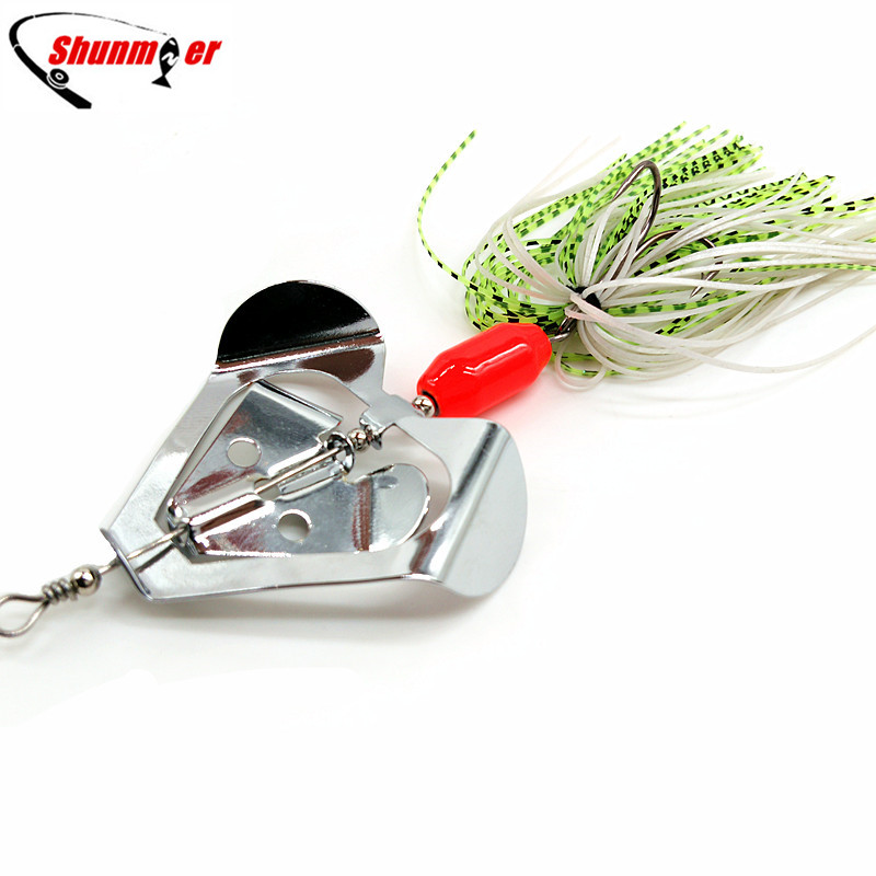 SHUNMIER 1pc 20g Buzzbait Spinner Bait Spoon Fishing Lure Pesca Peche Spinnerbait Tackle Fish Lures Isca Artificial Carp 4pcs fishing wobblers lures spinners metal spoon bait wobbler lure artificial bass baits peche tackle kit carp spinnerbait 5cm