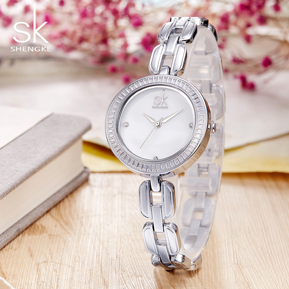 Shengke Uhr Frauen Neue Mode Armband Damenuhr Diamant Luxus Top