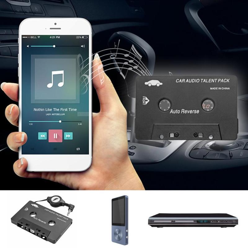 VODOOL Universal Car Cassette Tape Audio Adapter Converter 3.5mm AUX Auto Stereo Adapter For iPhone iPod MP3 CD Palyer hot sale image