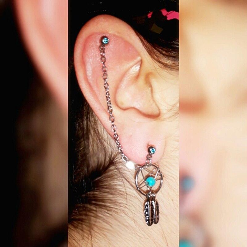 BOG Lot 40 Pieces Dream Catcher Ear Piercing Cartilage Stud Earring Delectable Dream Catcher Ear Cuff