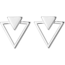 Women's 925 Sterling Silver Triangle Shaped Earrings