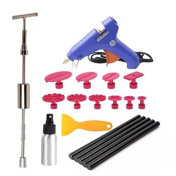 Dent Puller Kit,PDR Tool Remover for Car Body Repair Kit Glue gun Slide Hammer Glue Stick for Car Auto Body Hail Damage Remover auto body tools dent puller kit spotter stud welder spot welding gun washer chuck holder car bodywork dent repair automotive