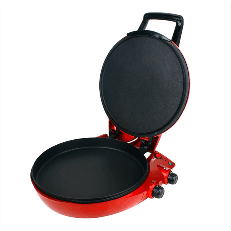 220V/1650W Multifunction Frying Pan Suspension Electric Crepe Pizza Maker Double Side Heating Red Electric Kettles