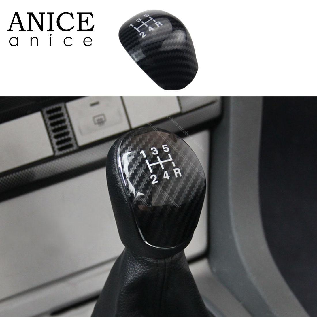 Carbon Fiber Color Gear Shift Knob Cover Trim Fit For Ford Focus 2012-2018 ABS MT