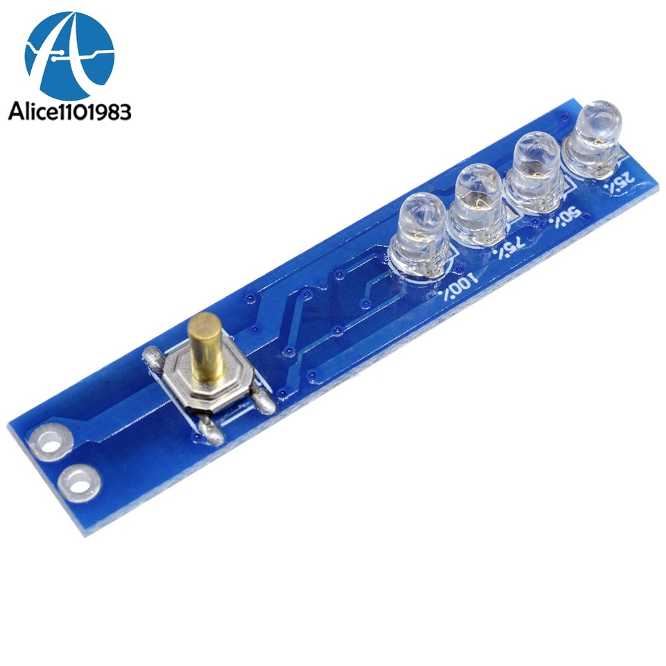 1S 18650 Lithium Battery Capacity Indicator LED Display  Board Panel Power