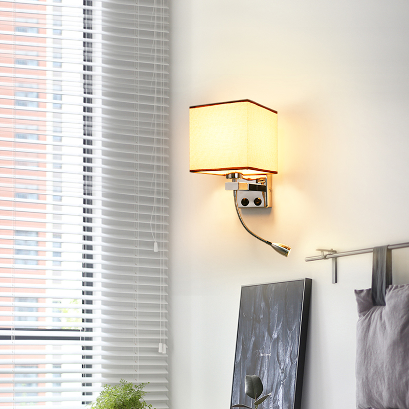 Us 23 56 40 Off Modern Led Wall Light Fabric Adjule Sconce Switch Stairs Luminaires Fixture E27 Bulb Bedside Lighting Mounted In