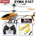 Venta caliente Syma S107g 3.5 Canales Mini Indoor Co-axial Metal RC Helicóptero Construido en el Giroscopio